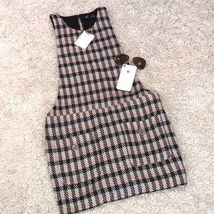 Zara Dresses - Zara Plaid Baby Doll Dress